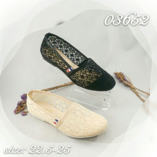 氣質唯美性感透膚蕾絲包鞋懶人鞋➰米白黑 簡單穿搭✨