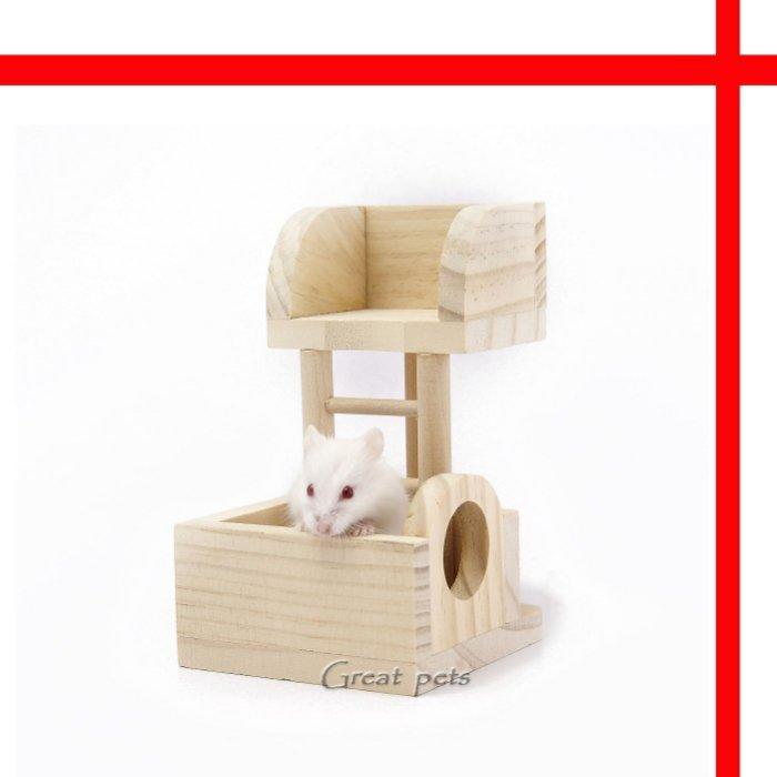 ~格瑞特寵物~CARNO 卡諾~倉鼠舒適原木瞭望台~楓葉鼠銀狐蜜袋鼯 ~可超取~