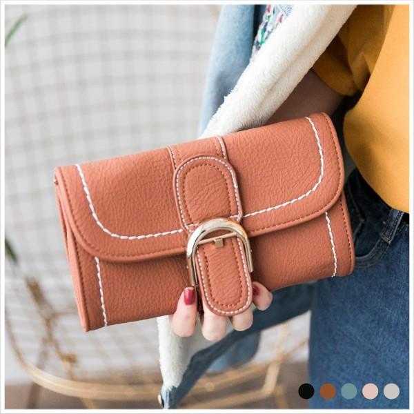 知性皮帶釦金鍊手拿包