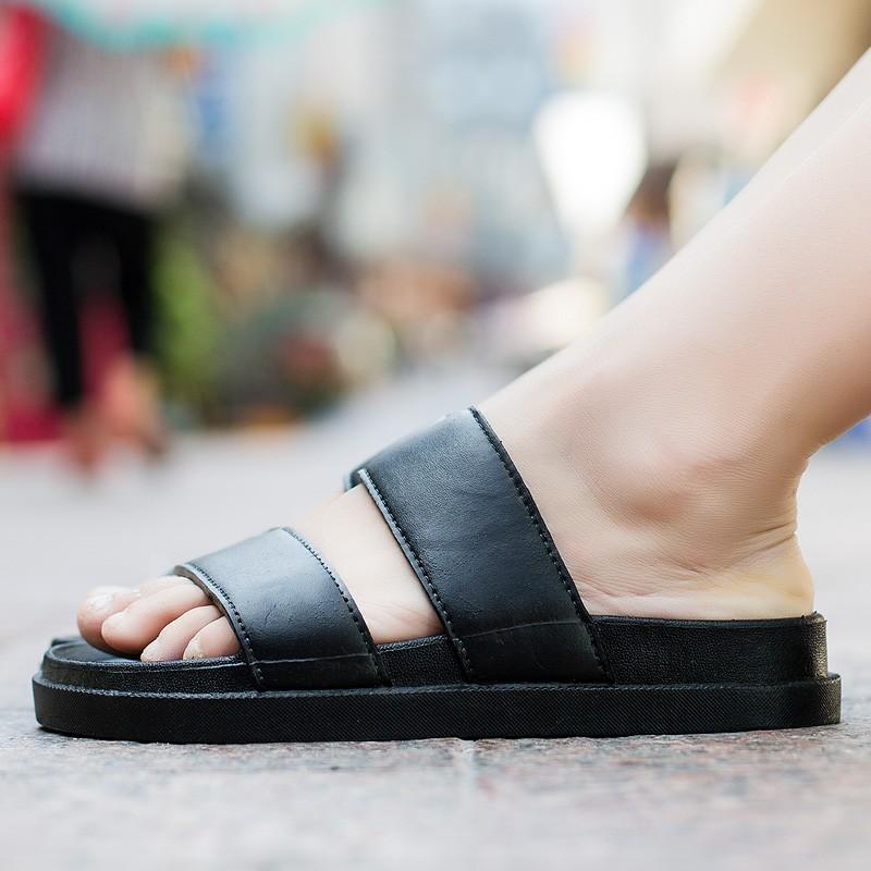 週年慶 潮款正韓一字拖男 情侶男女英倫厚底增高防滑耐磨涼拖沙灘拖鞋