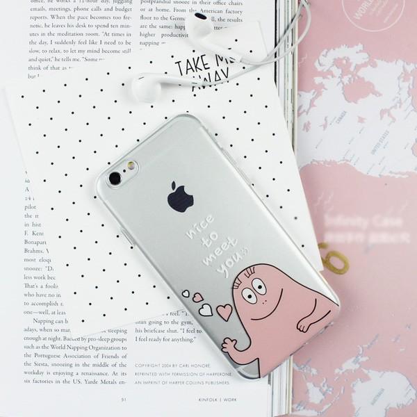 泡泡先生透明矽膠手機殼軟殼iphone6 6s 4 7 吋包邊Barbapapa