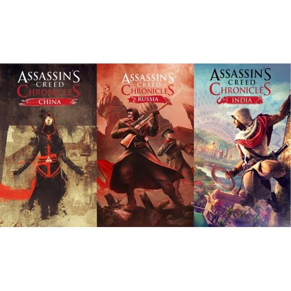 Uplay 遊戲刺客教條編年史三部曲共三個遊戲Assassin s Creed Chron