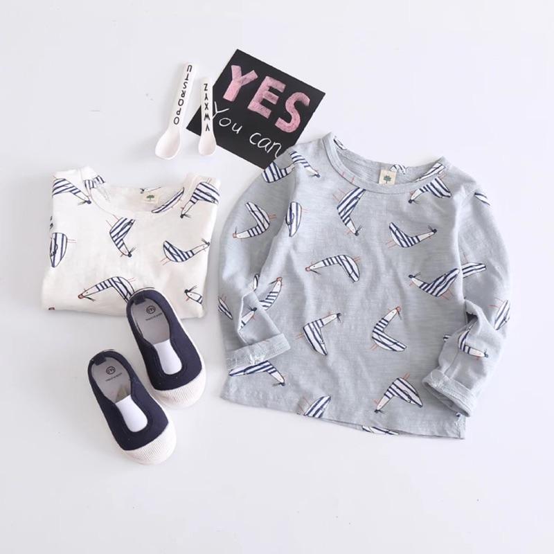 男童長袖t 恤女童打底衫兒童  中小童竹節純棉寶寶上衣