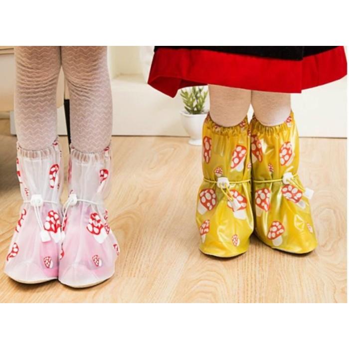 蓉易市集~09 2G0124 正品兒童雨腳套雨鞋套可愛蘑菇款可重覆