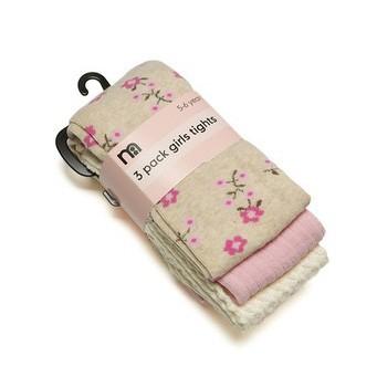 Mothercare 精梳棉兒童褲襪A 組~每組3 雙入~3 8Y