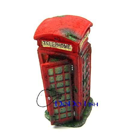 公共電話亭造景裝飾飾品系列可讓魚兒穿梭躲藏ISTA 宗洋BM128 BM128 dodo