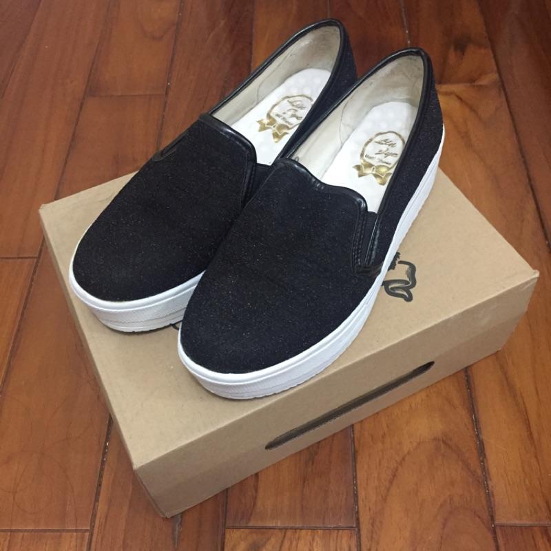女鞋包鞋黑包鞋懶人鞋厚底鞋