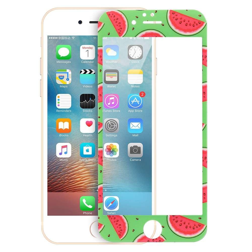 蘋果6 蘋果6plus 可愛卡通水果手機膜鋼化玻璃貼膜保護貼
