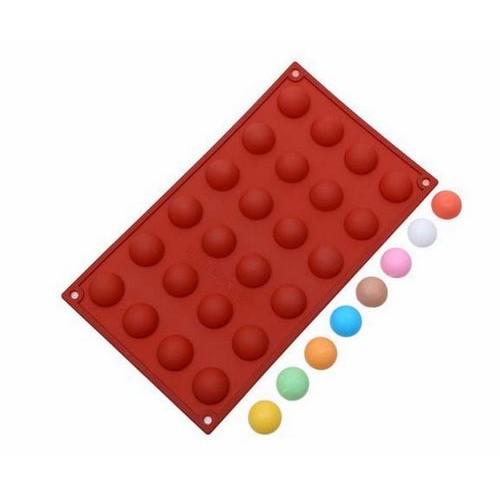 24 連乳酪球矽膠模小半圓矽膠巧克力模矽膠蛋糕模具果凍模冰塊模 皂模◆◆大祺 ◆◆