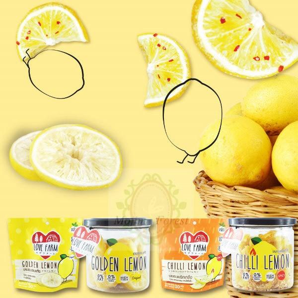 檸檬片罐裝~LOVE FARM ~愛檸檬120g 原味辣味小孩也愛吃健康零食