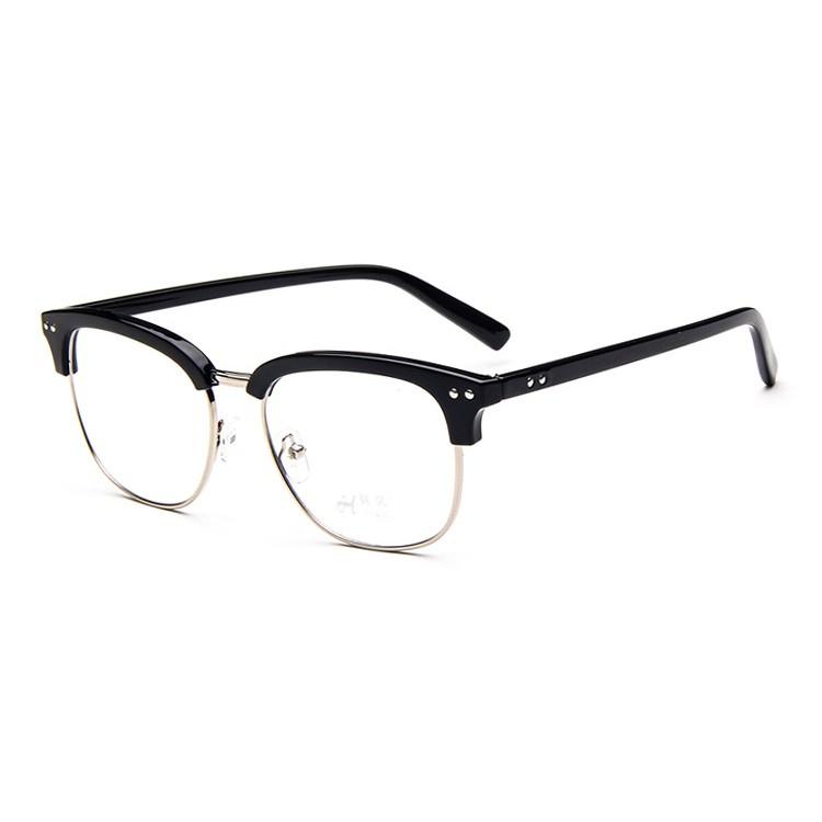 ~ 超 ~金屬半框眼鏡框復古眼鏡架雙米釘框架眼鏡