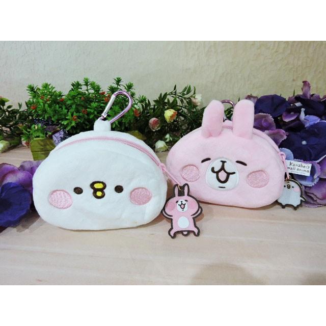 放牛班雜貨舖絨毛娃娃5 吋卡娜赫拉厚頭型零錢包可愛兔子小雞零錢包隨身包萬用包卡通錢包兒童錢