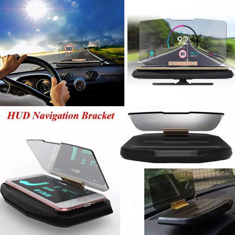 H1 手機HUD 支架GPS 導航支架HUD 抬頭顯示對於智慧手機的裝置支架