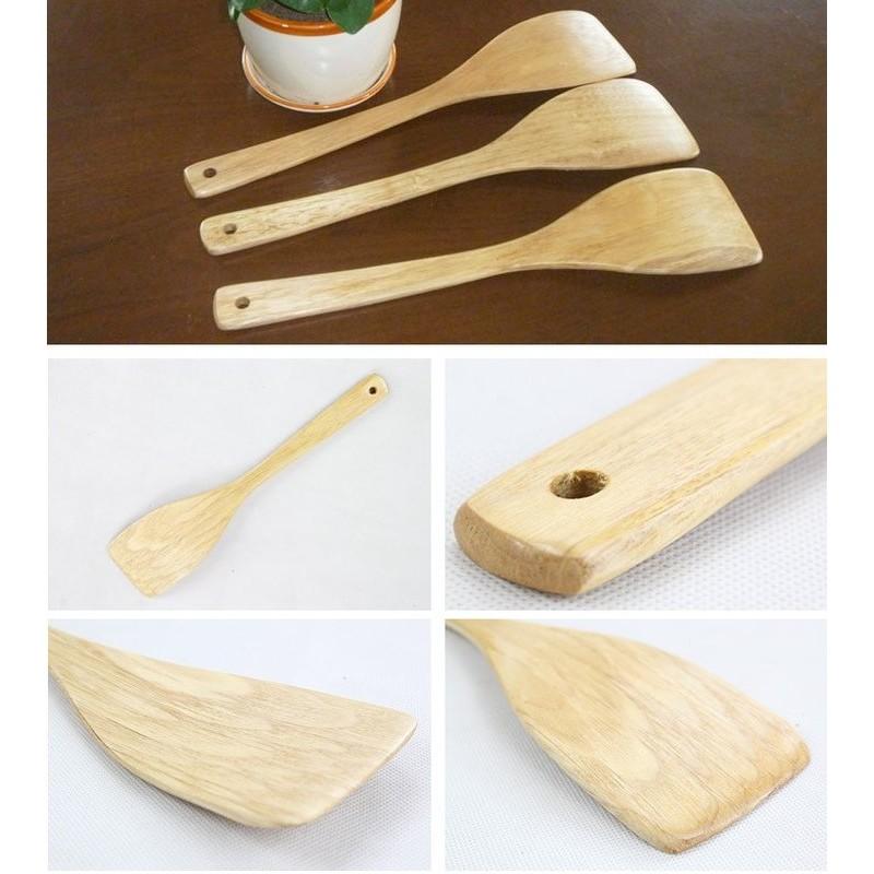 韓國不粘鍋 木鏟原木33X7 5CM 不粘炒鍋鏟子麥飯石鍋木鏟廚房用具