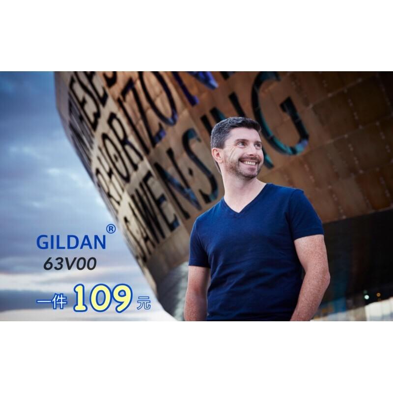 GILDAN 吉爾登63V00 系列V 領短袖純棉T 恤上衣V 領素T 棉T 中性版短T