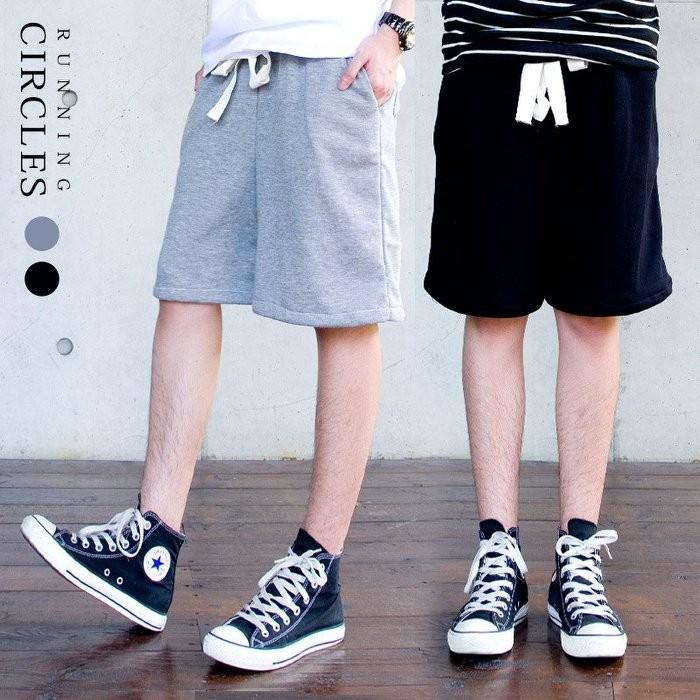 CIRCLE Apparel 小版男裝MIT 自訂款街頭潮流 抽繩低檔微垮休閒短棉褲短褲2