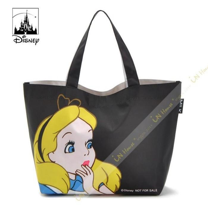 IN House 日雜附錄贈品迪士尼Disney 愛麗絲夢遊仙境雙面防水尼龍布便當袋手提袋