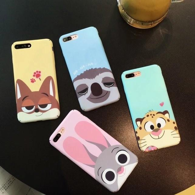 IPhone 系列馬卡龍色系可愛卡通殼動物方程式茱蒂狐狸老虎樹懶IPhone6 IPhon