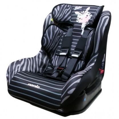 法國納尼亞0 4 歲安全汽座汽車安全座椅卡通動物系列斑馬黑