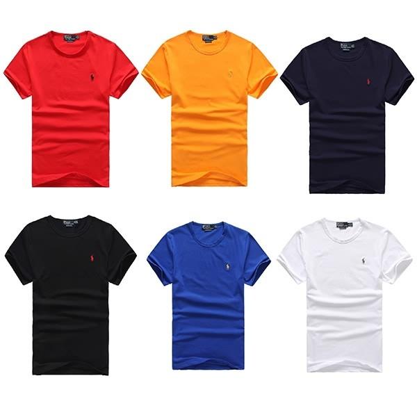 Ralph Lauren Polo 男裝爆賣款簡約素面圓領短袖T 恤小馬標短T 休閒上衣