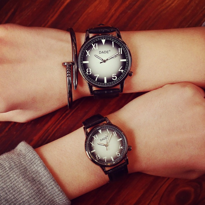 ~~ 風~~原宿風手表女韓國學生男 簡約復古軟妹黑白情侶一對潮手錶 手錶女生 男生 手錶首