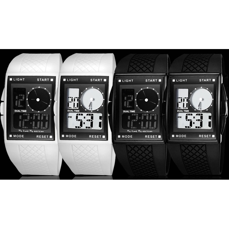 男士方形初中學生手錶電子錶男表防水青少年兒童戶外 表女