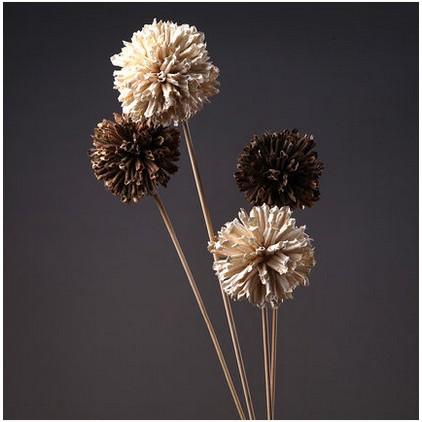 ~捆❤少女~3 7 新品 家居飾品幹花球芝麻球仿真花裝飾餐桌茶几花瓶整體花藝插花工藝品