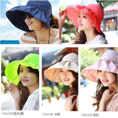 蓉易市集~14 3A0288 大人款 大沿可折疊涼帽防紫外線遮陽帽空頂帽