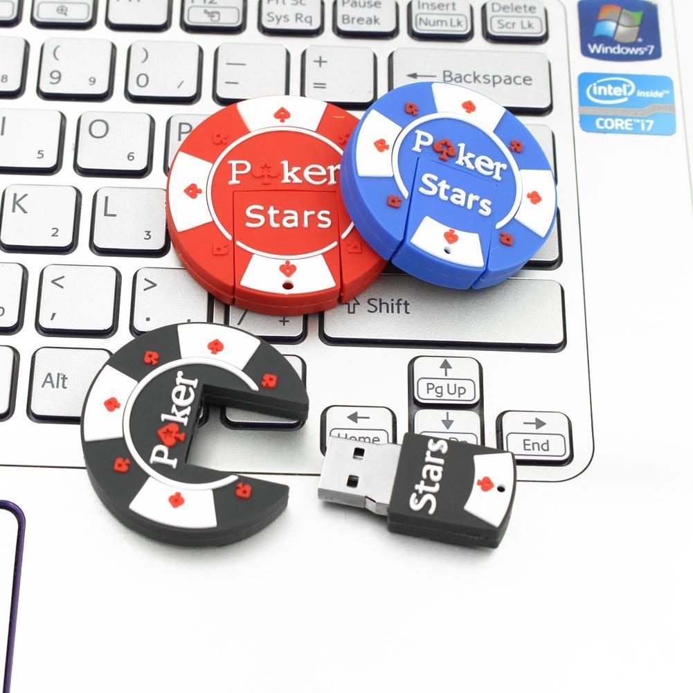 2GB 卡通橡膠撲克之星Poker Stars USB 閃存pendrive 隨身碟USB