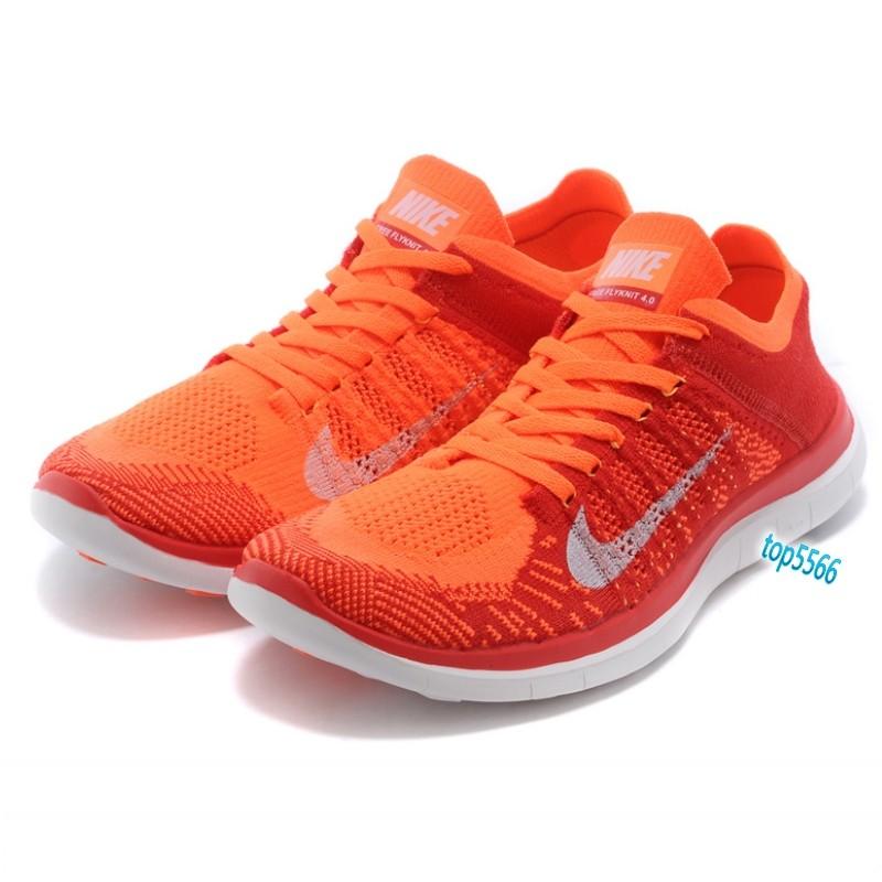 男款Nike Free Flyknit 4 0 赤足飛線編織慢跑鞋輕量透氣螢光路跑多款選擇