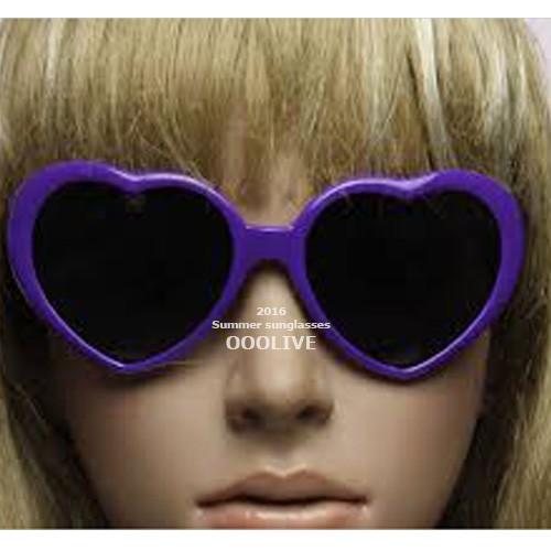 紫色桃心墨鏡太陽眼鏡愛心心型