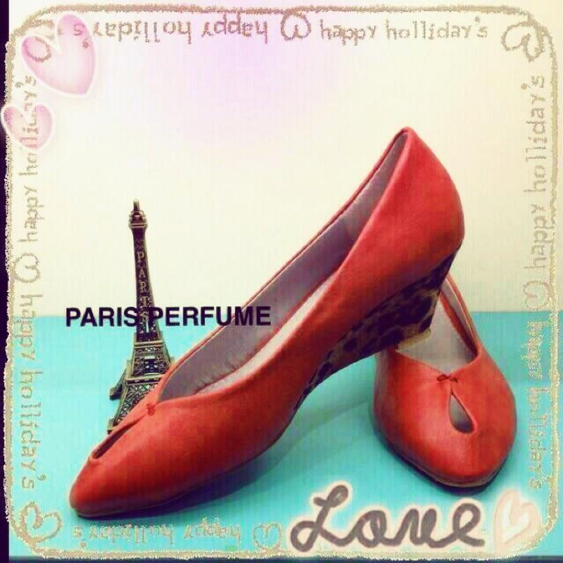 111 元11 月11 月雙十一 節自創品牌豹紋楔型小坡跟尖頭包鞋紅色咖啡色尺寸36 到4