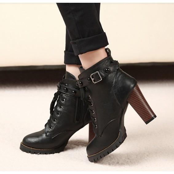 粗高跟短靴35 號高跟鞋靴子騎士靴踝靴長靴雨靴過膝靴雪靴