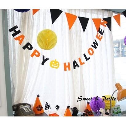 萬聖趴踢HW01 ❤黑橘happy halloween 字母掛旗❤幽靈南瓜萬聖節活動道具商