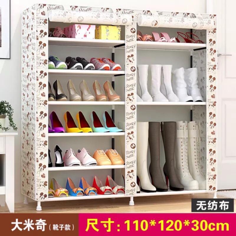 超大雙排加寬12 格簡易防塵鞋櫃