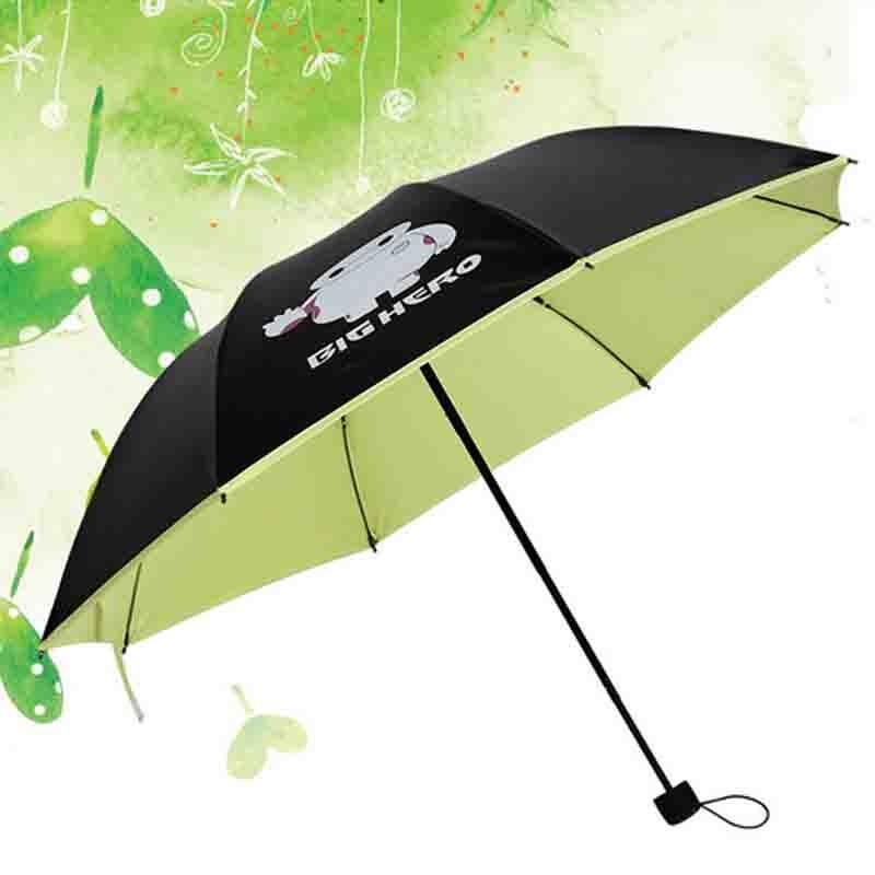 大白折疊小黑傘黑膠防曬太陽傘天堂傘大白傘大白雨傘