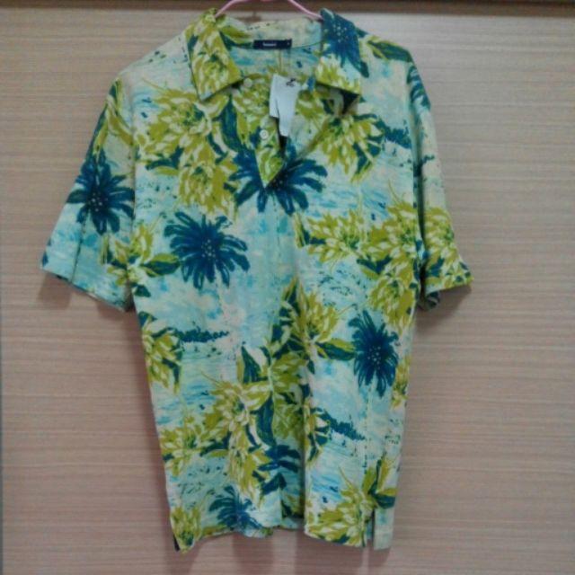 BOSSINI 男生巴里島風短袖休閒襯衫