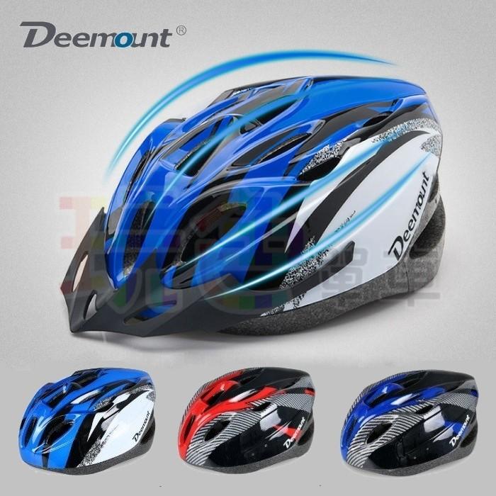~Deemount 輕量化安全帽~非一體成形仿碳纖18 孔頭盔登山車公路車摺疊車自行車玩色
