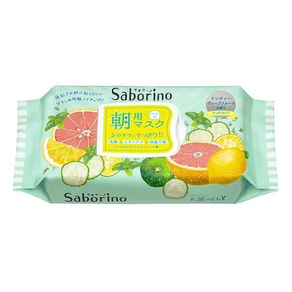 ~露娜小鋪~~°╮ BCL Saborino 早安面膜32 枚入檸檬葡萄柚清爽型賴床1 分