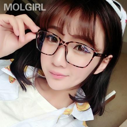 復古豹紋男式眼鏡框架潮眼鏡大框平光鏡電腦防輻射護目鏡近視女款
