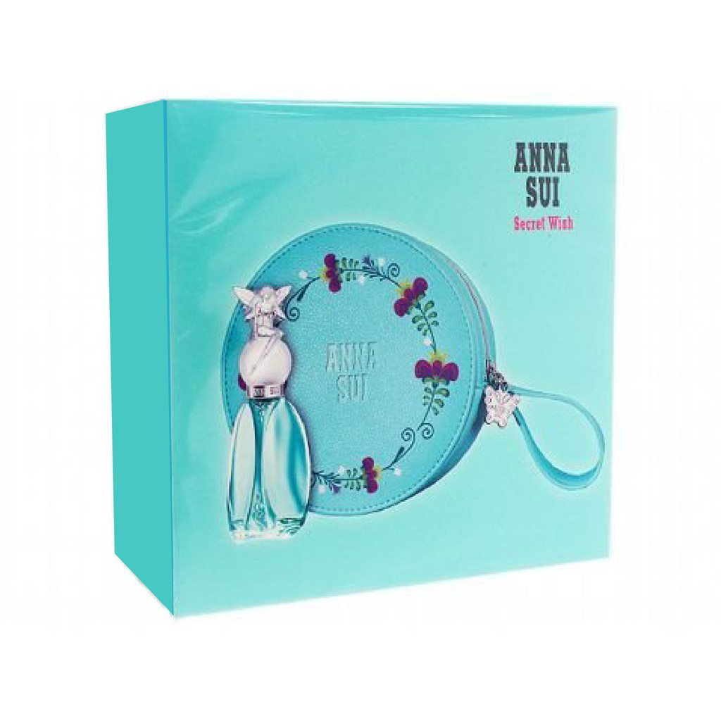 Anna Sui 安娜蘇 許願精靈禮盒(淡香水30ml+化妝包)
