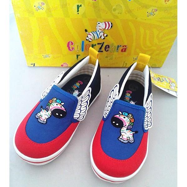 彩色斑馬威威Color Zebra 男童 鬆緊帶直套式帆布鞋休閒鞋室內鞋 MIT 200元