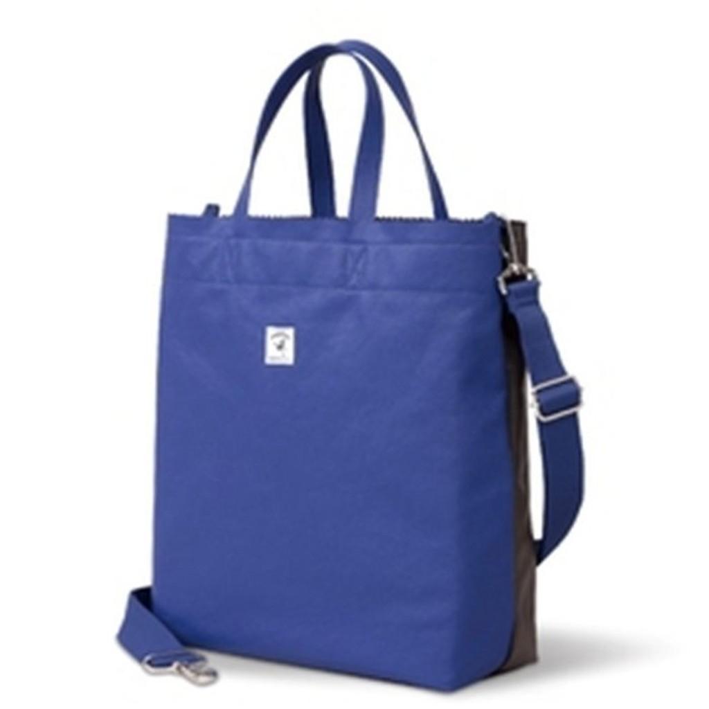 7 11 PORTER 輕旅行兩用撞色包包~寶藍X 淺褐~711 SNOOPY 史努比第三