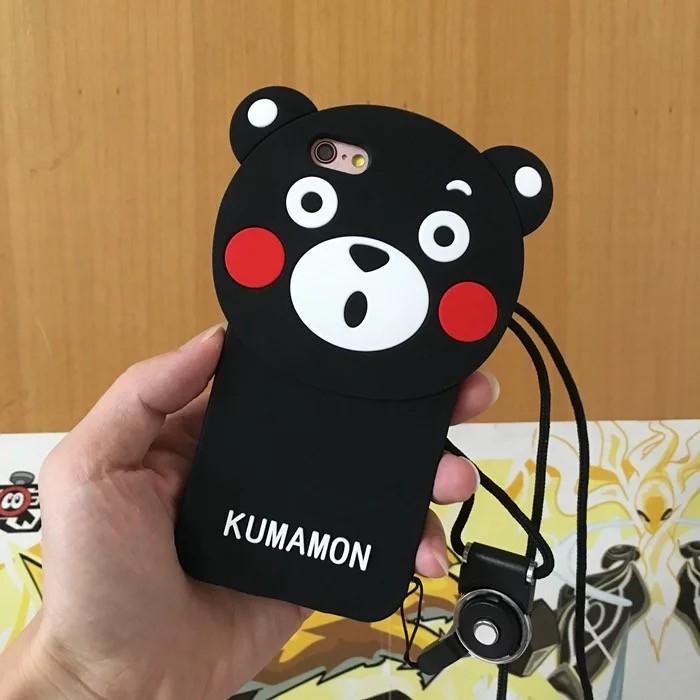 可愛熊本熊蘋果6s 手機殼iPhone6 plus 5s 矽膠套 全包邊軟潮女
