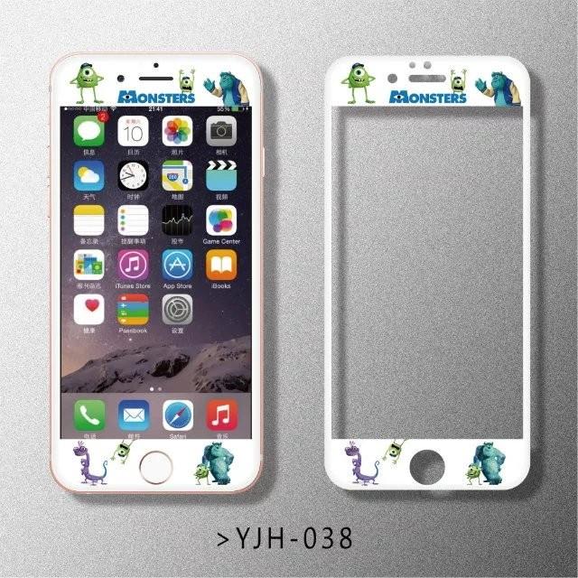 1 ️⃣多款卡通浮雕鋼化膜前膜滿版鋼化膜iphone6 6s 卡通iphone6plus