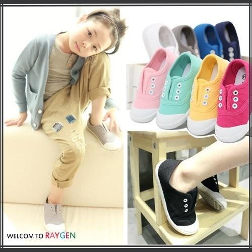 ~3A160X936 ~童鞋 簡約糖果色系兒童帆布鞋休閒鞋(灰色 區)