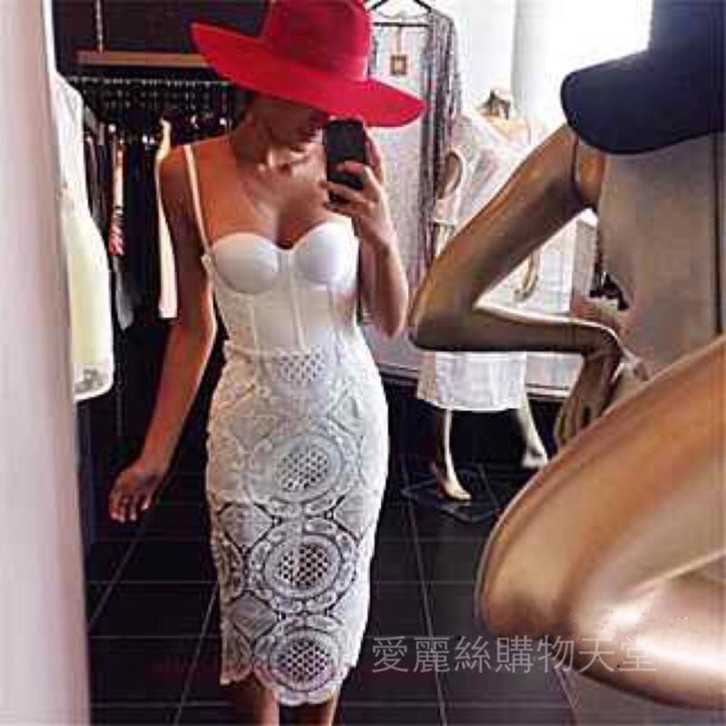 愛麗絲 天堂~(附實品照)大愛 絕美性感蕾絲修身馬甲性感氣質優雅連身裙小禮服