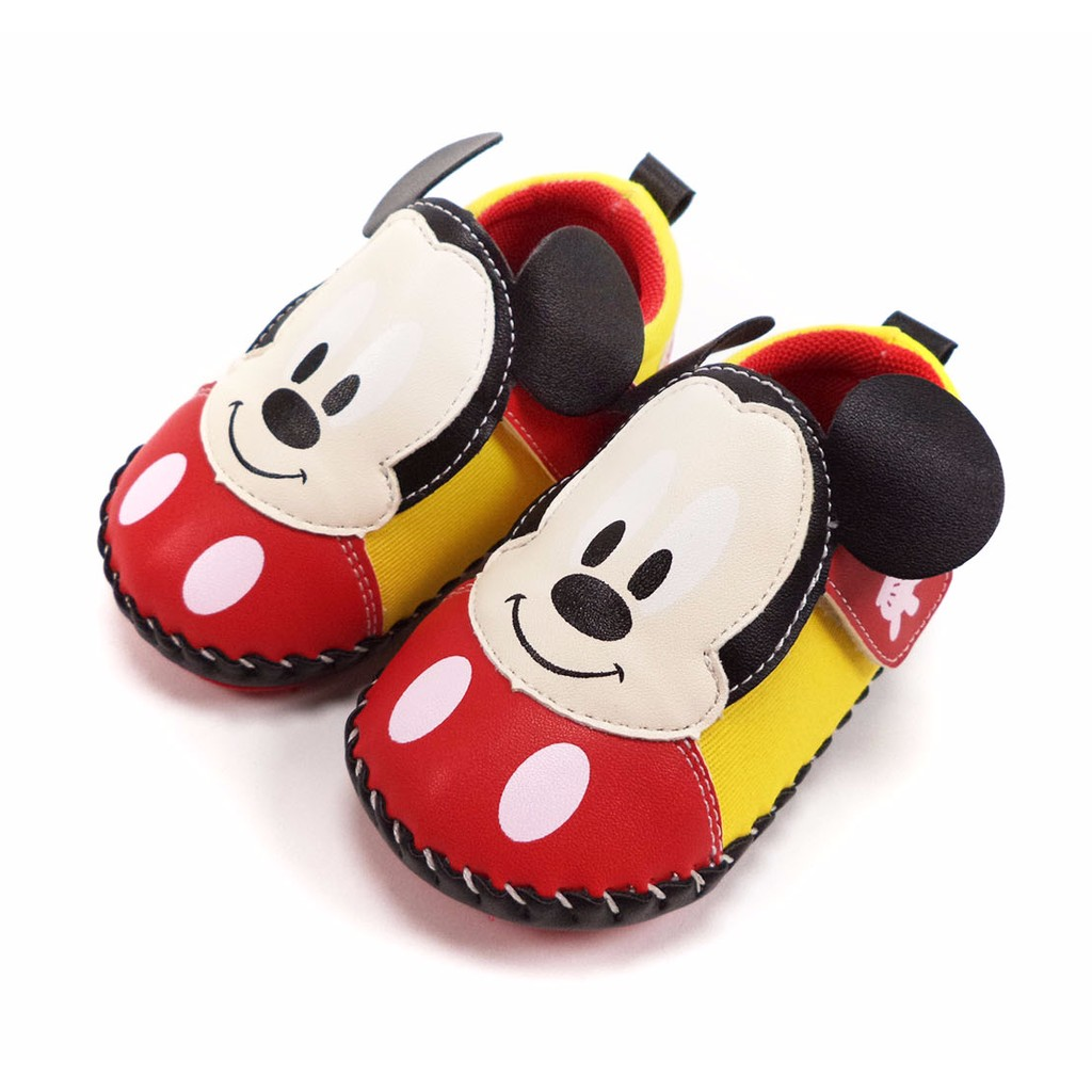 童鞋迪士尼Disney 日風米奇柔軟寶寶學步鞋463216 紅色13 15 5 號