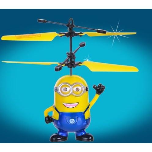 小小兵神偷奶爸USB 充電感應飛行器小黃人飛行玩具搖控飛機直升機 中