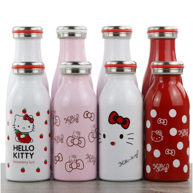 ❤️Hello Kitty 牛奶瓶 保溫杯雙層真空保溫保冷杯